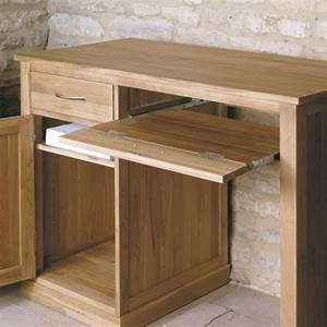 Buy Baumhaus Mobel Oak Single Pedestal Computer Desk