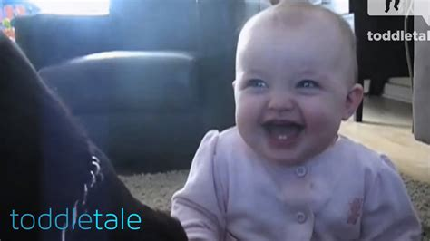 Laughing Baby Meme - baby girl laughing hysterically at dog eating popcorn laughing babies toddletale youtube