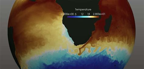 visualization  ocean currents eddies   high