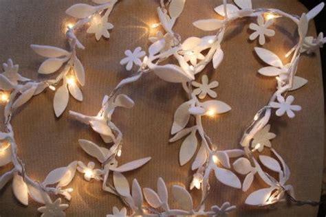 White Felt Flower Fairy Lights Girls Bedroom Wedding