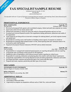 Tax professional resume
