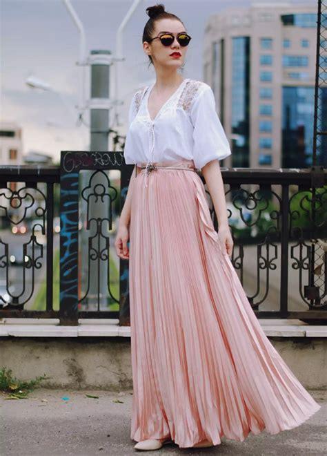 kind  tops  wear  long skirts learn