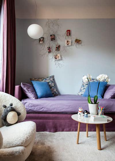 chambre bleu violet couleur aubergine