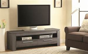 Grey Wood TV Stand - Steal-A-Sofa Furniture Outlet Los