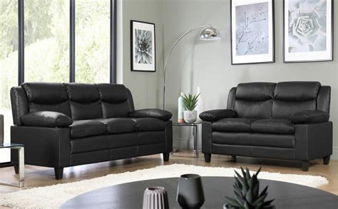 Small Black Loveseat by Metro Small Black Leather Sofa Suite 3 2 Seater Only 163 499