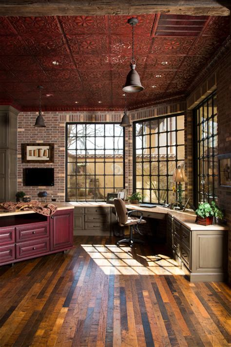 Rustic Lodge Style Home  Rustic  Home Office Houston