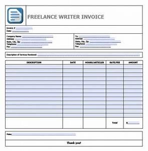 Free freelance writer invoice template invoice for Freelance journalist invoice template