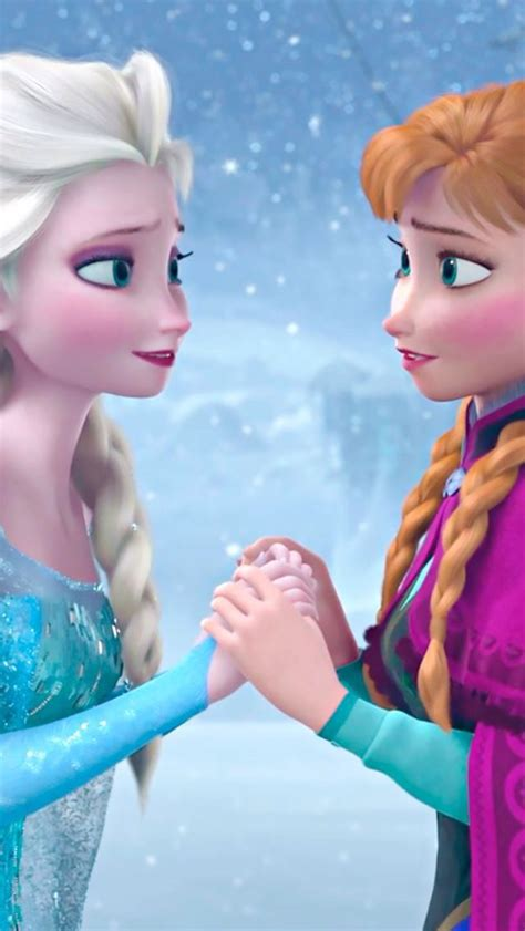 Anna And Elsa Frozen  Mobile Wallpaper  Papel De Parede
