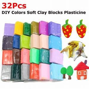 32pcs Diy Pottery Clay Plasticine Craft Malleable Fimo