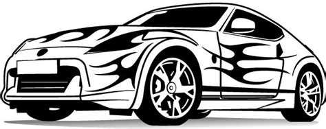 Vector Sport Car Silhouette Free Vector Download (8,989
