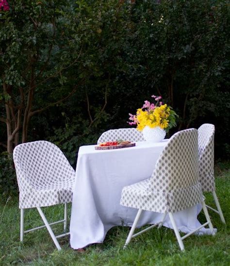diy folding chair slipcover tutorial chair covers craft
