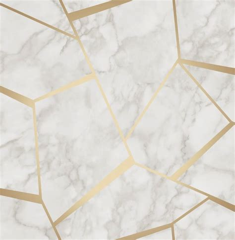 Fine Decor Marblesque White Gold Wallpaper FD42265