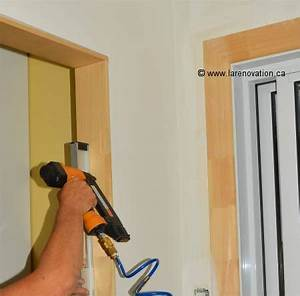 installer une porte interieure pose du chambranle With cadre de porte interieur