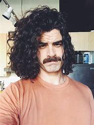 Long Curly Hair Man