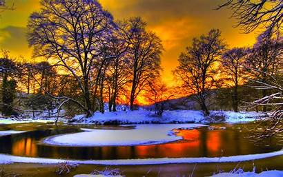 Winter Desktop Sunset Wallpapers Resolution Cool Iphone