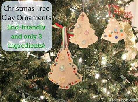 christmas tree clay ornaments   mom