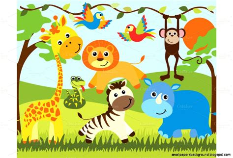 Animal Theme Baby Shower by Baby Shower Zoo Animals Clip Art Wallpapers Background