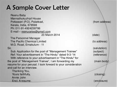 types of application letter