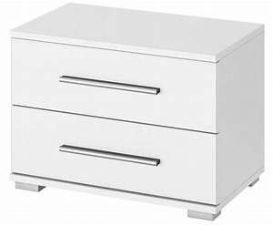 Table De Nuit Blanc Laqué : table de chevet 2 tiroirs laqu blanc quadra ~ Teatrodelosmanantiales.com Idées de Décoration
