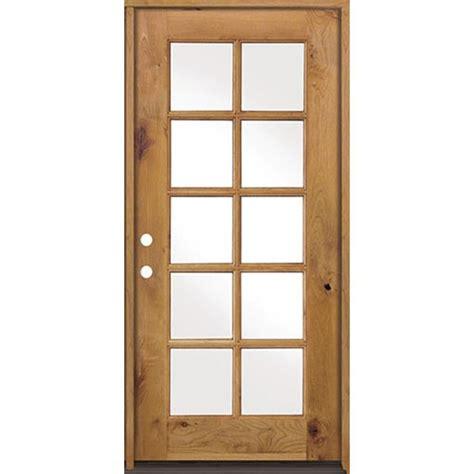 prehung exterior door krosswood doors 36 in x 80 in classic alder 10