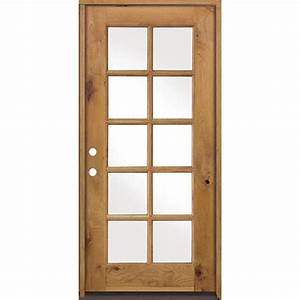 krosswood doors 36 in x 80 in classic french alder 10 With 36 x 80 french door