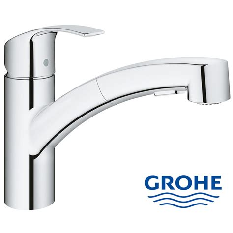 Grohe Eurosmart Single Lever Kitchen Mixer With Pullout