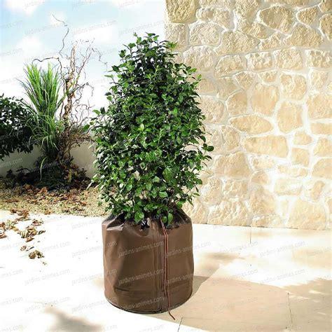 housse de protection pour pot de fleur protection hivernale des plantes