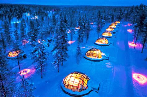 hotels to see northern lights thermal glass igloos offer views of the northern lights at