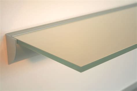 10 Mm Glasregal  Glas Weiß Lack  Profil Klemmleiste Alu