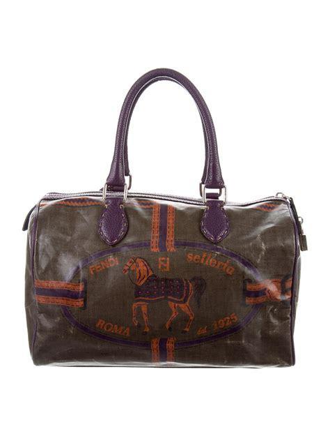 Fendi Horse Print Boston Bag   Handbags   FEN53531   The