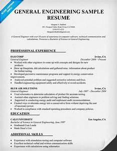 sample resume of an electrical engineer - general engineering resume sample