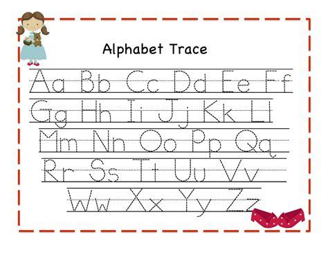 trace alphabet letters for children activity shelter