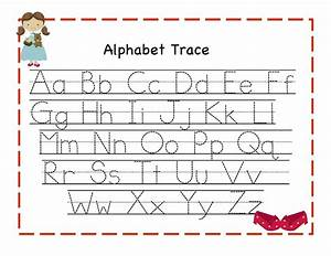 trace alphabet letters for children activity shelter With alphabet letters for kids