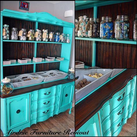 Tiffany Blue Display Cabinet   General Finishes Design Center