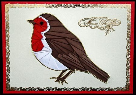 christmas robin iris folding pattern cup