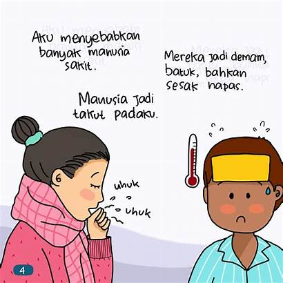 Kartun Gambar Virus Corona Anak Covid Mudah