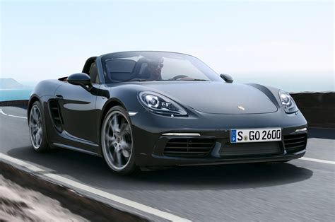 Porsche 718 Boxster by 2017 Porsche 718 Boxster Revealed With New Turbo Engines