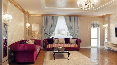 regal purple blue living room decor interior design ideas