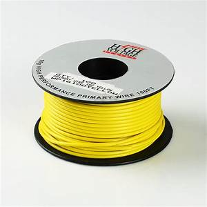 100ft Yellow Primary Wire 16 Gauge Awg Stranded Copper