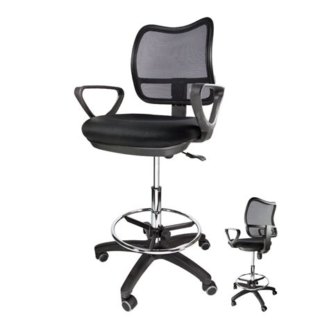 office chair drafting stool mesh adjustable footrest