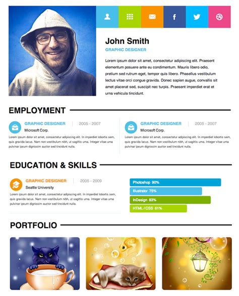 resume 5 free resume designs a graphic world