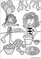 Birthday Groovy Coloring Preparation Printable sketch template
