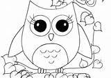 Owl Coloring Pages Printable Sheets Simple Creations Drawing Adult Adults Shower Getdrawings Crafts sketch template