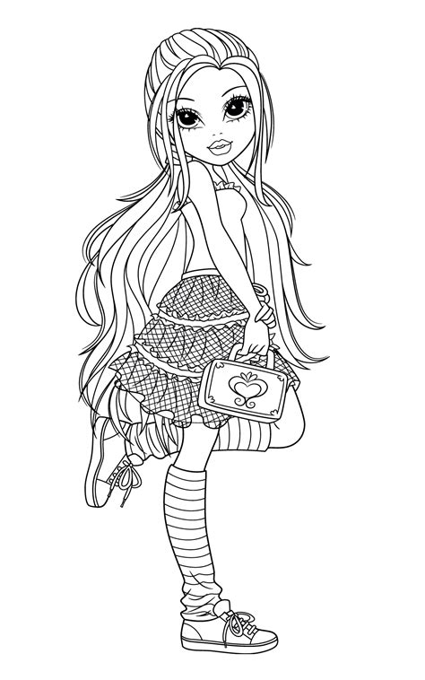 moxie girlz coloring pages Colorful drawings Coloring