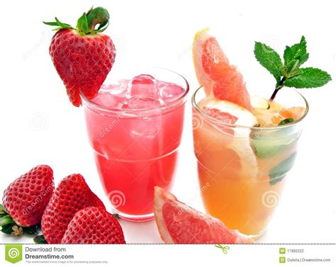 Soft Drinks With Fruit Stock Photography   Image: 17992222