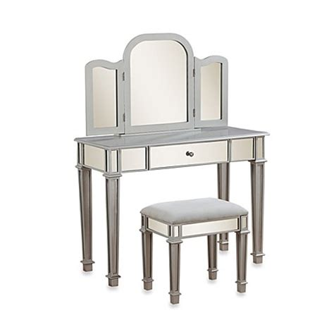bed bath and beyond makeup vanity buy linon home annalisa vanity set from bed bath beyond