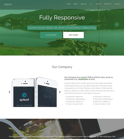 green   page html bootstrap template bootstrapmade