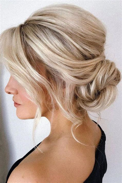 mother   bride hairstyles simple messy  bun  blonde hai   mother   bride