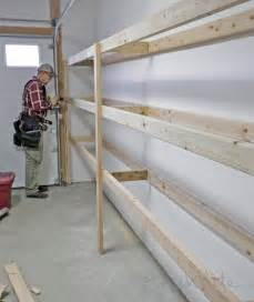 Simple Storage Garage Plans Ideas by White Easy And Fast Diy Garage Or Basement Shelving