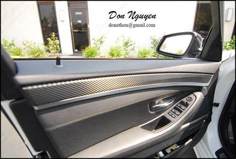 vinyl wrap interior bmw f10 535i gloss carbon fiber interior vinyl wrap